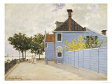 The Blue House, Zaandam Giclee Print by Claude Monet