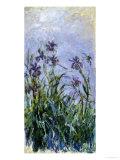 Iris Mauves, 1914-1917 Giclee-trykk av Claude Monet
