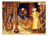 Carpet Seller, 1871 Giclée-Druck von Jean Georges Vibert