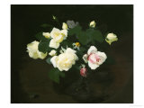 Yellow and Pink Roses Giclee Print by James Stuart Park