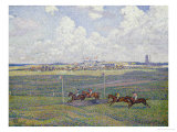 The Racecourse at Boulogne-Sur-Mer, 1900 Print by Théo van Rysselberghe