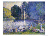 The Lake in the Bois de Boulogne, circa 1899 Art by Henri Edmond Cross