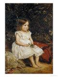 Portrait of Eveline Lees as a Child, 1875 Print by John Everett Millais