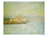 The Old Fort at Antibes Premium Giclee Print by Claude Monet