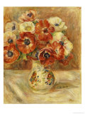 Still Life with Anemones Art by Pierre-Auguste Renoir