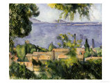 The Rooftops of l'Estaque, 1883-85 Prints by Paul Cézanne