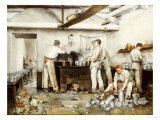 At the Barracks, Eight Thirty, 1883 Gicl&#233;e-Druck von Marius Roy