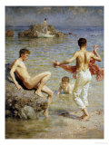 Gleaming Waters, 1910 Posters by Henry Scott Tuke