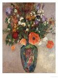 Ramo de Flores en un Florero Lámina giclée por Odilon Redon