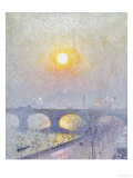 Sunset Over Waterloo Bridge, 1916 Giclee Print by Emile Claus