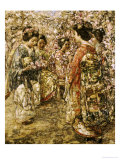 Five Japanese Girls Among Blossoming Trees, 1921 Giclee Print by Edward Atkinson Hornel