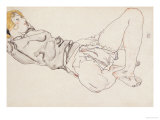 Reclining Woman with Blond Hair, 1912 Giclee Print by Egon Schiele