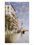 Along the Grand Canal Giclee Print by Rafael Senet