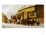 Outside the George Inn, Winter, 1879 Giclee Print by John Charles Maggs