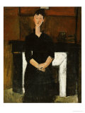 Woman Sat by a Fireplace, 1915 Prints by Amedeo Modigliani