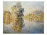 Early Morning on the Seine at Giverny, 1893 Poster by Claude Monet