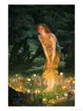 Midsummer Eve Reproduction procédé giclée par Edward Robert Hughes