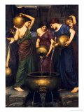 Danaides, 1904 Affiches par John William Waterhouse