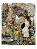 Swans, Lilies and Iris, 1899 Giclee Print by Edward Atkinson Hornel