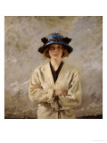 Girl in a Blue Hat, 1912 Giclee Print by Sir William Orpen