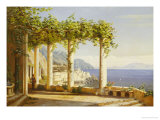 Amalfi Del Convento Dei Capuccini, 1880 Reproduction proc&#233;d&#233; gicl&#233;e par Eiler Rasmussen Eilersen