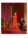 A Cardinal Looking at Napoleon&#39;s Throne Giclee Print by Jean Georges Vibert