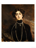 Portrait of Lina Cavalieri, circa 1901 Giclee Print by Giovanni Boldini