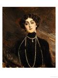 Portrait of Lina Cavalieri, circa 1901 Giclee Print by Giovanni Boldini