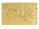 Young Woman Lying on Her Back, 1915 Giclee Print by Egon Schiele