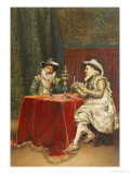 The Trump Card, 1895 Giclee Print by Adolphe Alexandre Lesrel