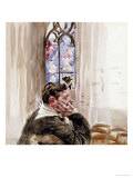 Portrait of a Man in Church, 1900 Posters by Giovanni Boldini