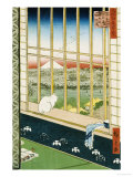 Asakusa Rice Fields During the Festival of the Cock Giclee Print by Ando Hiroshige
