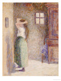 Country Girl at Her Toilet, 1888 Prints by Camille Pissarro