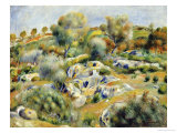 Brittany Landscape with Trees and Rocks Prints by Pierre-Auguste Renoir