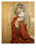 Girl in a Fur, Miss Jeanne Fountain, 1891 Art by Henri de Toulouse-Lautrec