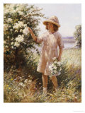 Picking May Blossom Giclee Print by William Kay Blacklok