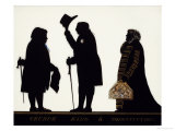 Church, King and Constitution, Silhouette on Glass Giclee Print by Charles Rosenberg