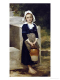 La Fille d&#39;Eau Giclee Print by William Adolphe Bouguereau