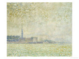 A View of Veere, Misty Morning, 1906 Poster by Théo van Rysselberghe