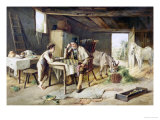 Game of Draughts, 1891 Giclee Print by Jr., Charles Hunt