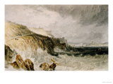 Plymouth Citadel, a Gale, 1815 Poster by William Turner