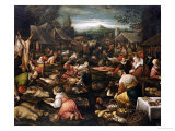 A Country Market Print by Jacopo Bassano