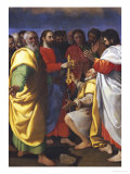 Christ's Charge to Saint Peter Print by Giuseppe Vermiglio