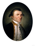 Portrait of Captain James Cook, R.N., in Captain's Uniform in a Painted Oval, Giclee Print
