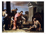Alexander and Diogenes Kunst af Sebastiano Ricci