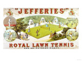 A Royal Lawn Tennis Set For 4 Players Made By Jefferies, Woolwich, Circa 1875 Lámina giclée