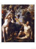 The Temptation Print by Jacob Jordaens