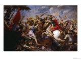 The Battle of the Amazons Giclée-tryk af Antonio Tempesta