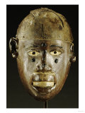 Makonde Mask of Oval Form with Open Mouth Giclee Print