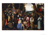 Saint John the Baptist Preaching the Baptism of Christ Beyond Giclee Print by Pieter Bruegel the Elder
